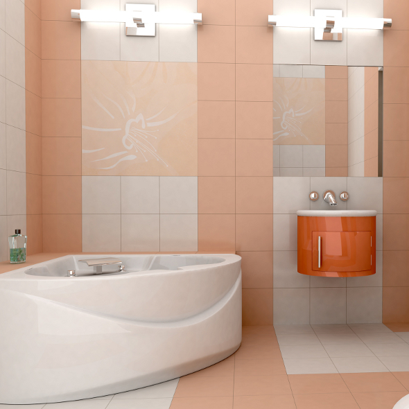 Сочетание цветов плитки в ванной