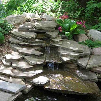 Горки из камней с фонтаном своими руками