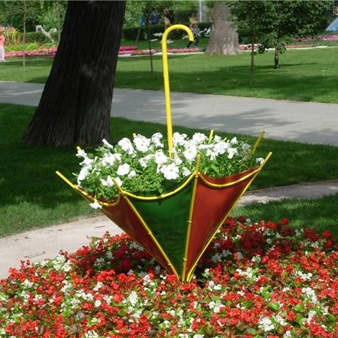 оформление сада цветами фото: