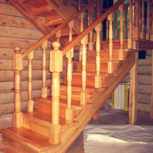 Как сделать деревянные перила для лестницы