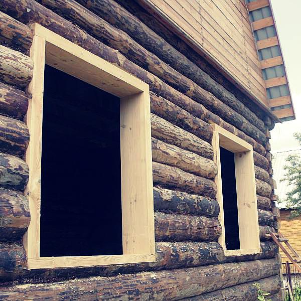 Как сделать окна в доме из блоков 974